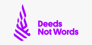 deeds not words logo