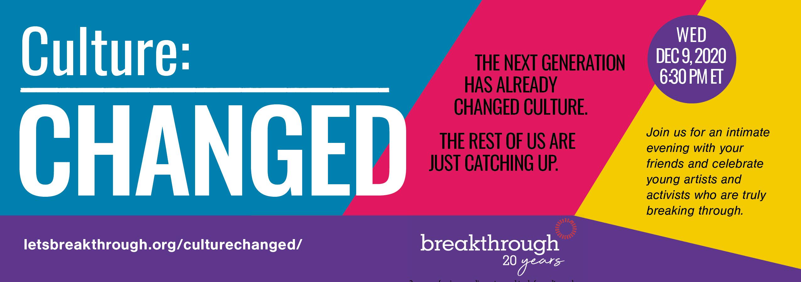 Breakthrough Virtual Event Invite