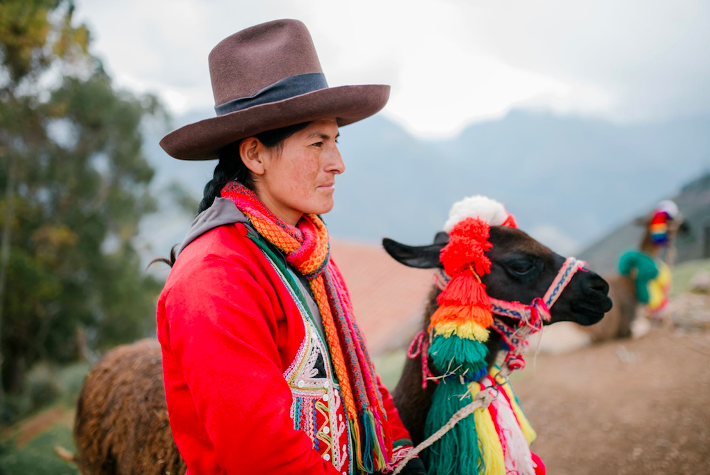Indigenous folk showcasing cultural fashion