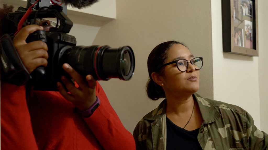 Moni Vargas directing Our Stories In Vivid Color