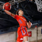 MCNP contributor and athlete Max Pearce dunking